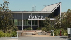 Police Station Generic (Wide Shot) Stock Footage