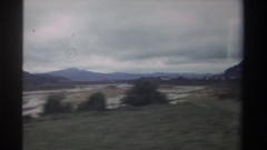 1982: view from a moving vehicle of the countryside TAIWAN Stock Footage