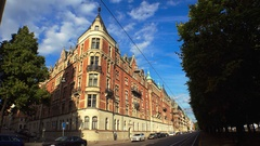 Stockholm. Old town. Architecture, old houses, streets and neighborhoods. 4K. Stock Footage