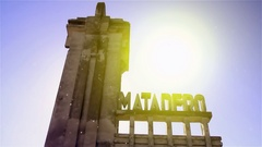 Slaughterhouse Abandoned in the Ghost Town Epecuen Stock Footage