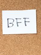 The series of a message on the cork board, BFF Stock Photos