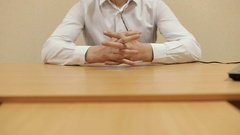 Businessman working with documents in the office. Hands close-up. Stock Footage