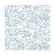 Computer chip circuit Stock Illustration