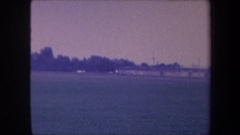 1959: an airplane speeds down a runway before slowing to a stop VOLMER YUCAIPA Stock Footage