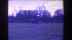 1963: antique unique plane taxis to the runway for takeoff VOLMER YUCAIPA Stock Footage