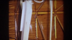1964: recording of wooden structure VOLMER YUCAIPA CALIFORNIA Stock Footage