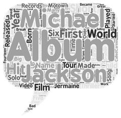 Biography Of Michael Jackson text background wordcloud concept Piirros