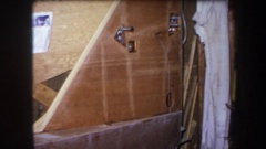 1964: construction and piping in a basement VOLMER YUCAIPA CALIFORNIA Stock Footage