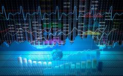 Stock exchange board, abstract background Stock Illustration
