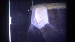 1964: angled panels lead into archway to lit oval opening into larger rounded Stock Footage