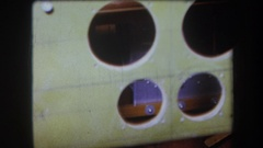 1964: the inside of a wooden structure VOLMER YUCAIPA CALIFORNIA Stock Footage