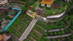 PENANG, MALAYSIA October 14, 2016: Aerial: Kek Lok Si temple on Penang island. Stock Footage