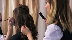 Process of model preparation for performance Stock Footage