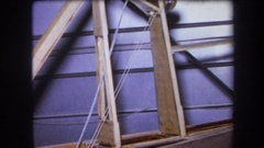1964: a ladder next to a garage door, from the inside VOLMER YUCAIPA CALIFORNIA Stock Footage