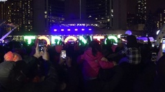 50th annual Cavalcade of Lights at Nathan Phillips Square, Toronto, Canada 2016 Stock Footage