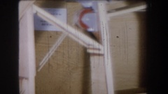 1965: interesting contraption built VOLMER YUCAIPA CALIFORNIA Stock Footage