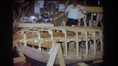 1965: busy work in the workshop VOLMER YUCAIPA CALIFORNIA Stock Footage