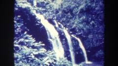 1967: a cascade of water falling from a height HAWAII Stock Footage