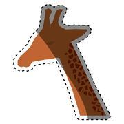 Giraffe african animal Stock Illustration