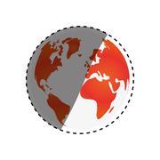 Earth world planet Stock Illustration