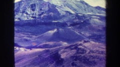 1967: recording of hills and mountains. HAWAII Stock Footage