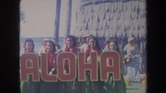 1967: christmas luau in hawaii HAWAII Stock Footage