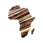 Africa map silhouette Stock Illustration