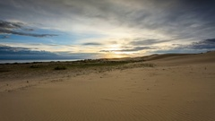 Sunset over the Sands Mongol Els, Mongolia. Full HD Stock Footage