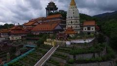 PENANG, MALAYSIA October 14, 2016: Aerial: Kek Lok Si temple in Malaysia. Stock Footage