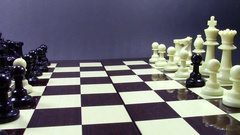 Pawn traitors chess opening Stock Footage