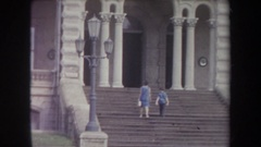1969: today we visit an amazing architecture. HAWAII Stock Footage