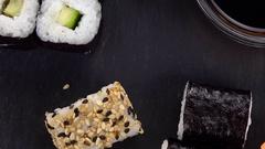 Sushi (rotating; not loopanle; 4K) Stock Footage