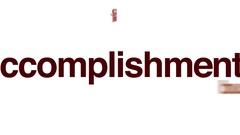 Accomplishment animated word cloud. Stock Footage