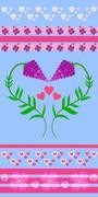 Lavender flowers. Love in Provence Stock Illustration