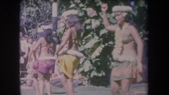 1969: vintage archival footage of hawaiian hula dancers HAWAII Stock Footage