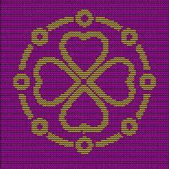 Knitting pattern ornate decorative symbol. Sweater design. Wool knitted tex.. Stock Illustration