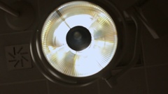 Lamp in the treatment room Stock Footage