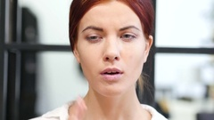 Close Up of Woman with Toothache, Indoor Stock Footage