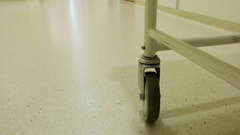 Best hospital gurney trolley bed low angle Stock Footage