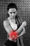 Beautiful young fitness woman feeling pain Stock Photos