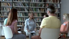 People on psychological therapy Stock Footage