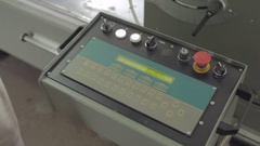 Cnc console operating Stock Footage