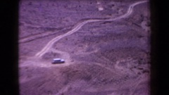 1958: recording from a high place in the desert plains. ARIZONA Stock Footage