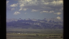 1980: a view of lofty mountains from afar WESTERN USA Stock Footage