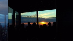 Melbourne, Eureka Tower: Tourists Looking at Sunset in Melbourne Stock Footage
