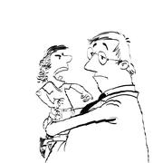 Dad and a spoiled child Stock Illustration