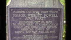 1980: an historical landmark commemorating the first exploration of major wesley Stock Footage