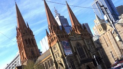 Melbourne, Eureka Tower: Melbourne Skyline Stock Footage