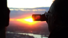 Melbourne, Eureka Tower: Tourists Shoot Photo with Smartphone Stock Footage