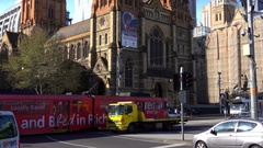 Melbourne, St. Paul Cathedral, Traffic Stock Footage